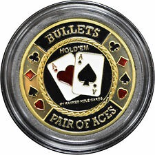 Casino Poker Card Guard Cover Protector BULLETS