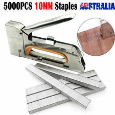 Heavy Duty Staple Gun Stapler + 5000 Staples Fastener Tool Kit Tacker Upholstery