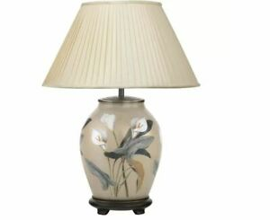 Jenny Worrall Arum Lily Oval Ceramic Lamp Base (shade not included) Brand New