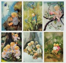 MILI WEBER*Postkarte*Frühling*Nostalgie*Blumenkinder*A6