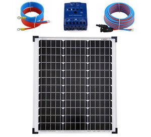 50Watt 12 Volt Solar Set Solaranlage Inselanlage Garten Camping Solarmodul