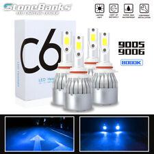New listing 9005+9006 Led Headlight Bulb Blue Light 200W 40000Lm 8000K Hi-Lo Beam Fog Light