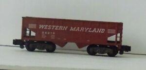 AMERICAN FLYER 24219 Brown WESTERN MARYLAND HOPPER Freight CAR missing 2 steps
