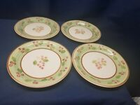 Vintage Gibson Everyday Holly & Berry Set/4 Dinner Plates Handpainted