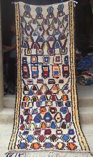 VINTAGE marocchina di lana di azilal Tappeto 291 x 116 cm