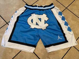 "North Carolina UNC ""JustDon"" MITCHELL AND NESS TAR HEELS Men's Sewn Blue Shorts"