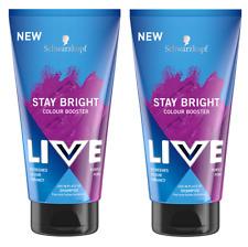 2x Schwarzkopf Live Stay Bright Colour Booster Shampoo PURPLE PUNK 150ml