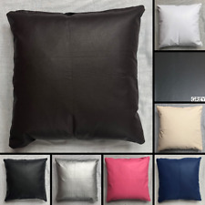 Premium PVC Faux Leather Cushion Cover Handmade Pillow Case Sofa Bed Decor