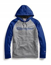 Champion Stadium Fleece Blue / Gray Pullover Hoodie Sweatshirt Adult XL
