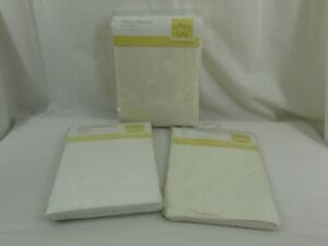 Cream Baby Sheets / Blankets for Cot Bed, Cot, Moses - New