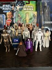 Vintage Star Wars Lot 21 Figures With Accessories First 12 Big Eyes Early Bird