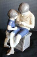 """Copenhagen  Bing & Grondahl B&G Porcelain """"Two boys exploring"""" Figure #1648"""