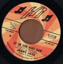 HI 60s rocker PROMO 45  JERRY JAYE - Let The Four Winds Blow + Singing The Blues