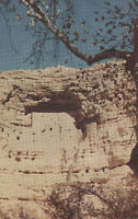 Old Chrome Postcard ca1950s A609 Montezume Castle Clarkdale Arizona AZ Union Oil
