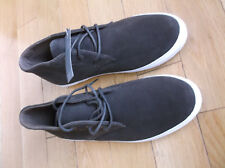 MARKS & SPENCER MEN'S TRAINERS/FOOTWEAR,SIZE UK 9,COLOR BROWN/WHITE,SUEDE