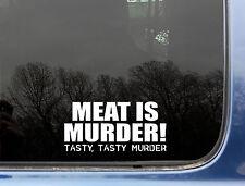 Meat is MURDER tasty murder funny decal / sticker peta
