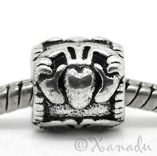 Claddagh Symbol European Charm Bead For Charm Bracelets - Heart, Hands, Crown