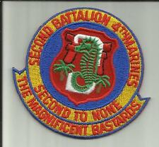 2nd BATTALION 4th MARINES USMC MILITARY PATCH CAMP PENDLETON INFANTRY SOLDIER