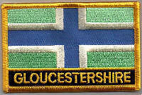 Gloucestershire County Flag Embroidered Patch T9