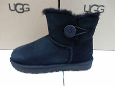 UGG WOMENS BOOTS MINI BAILEY BUTTON II BLACK SIZE 9