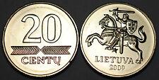 Lithuania 2009 20 Centu Coin BU Very Nice KM# 107