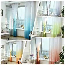 100×270CM Gradient Color Curtain Home Decor Door Window Curtain  Gauze Sheer