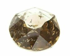 Fancy Brown Natural Loose Diamond 6.78 Cts Oval Color IGI Rose Cut