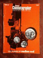 AMERICAN CINEMATOGRAPHER Magazine January 1970 Medium Cool Chicago