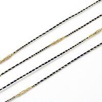 fil cordon nylon métallique noir bracelet perles macramé création bijoux Ø 1.5mm
