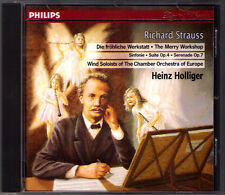 Heinz Holliger: Richard Strauss Vent Sérénade suite Symphony Happy atelier CD