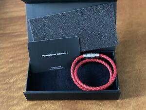 Porsche Design Grooves 2.0 Bracelet Double Red size 20