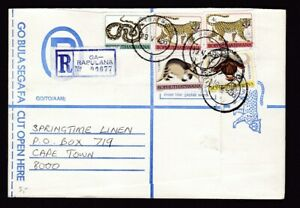 Bophuthatswana 1986 GA-RAPULANA registered cover to Cape Town