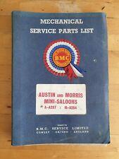 *First Edition * BMC Austin & Morris Mini Mechanical Service Parts List