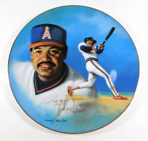 "1985 Hackett American Reggie Jackson ""500 Home Run Edition"" Plate Autograph"