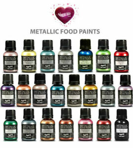 Rainbow Dust Edible PAINT Pearl Metallic Food PAINTS For Cake Decorating 25g