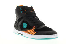Airwalk Prototype 600 AW00226-003 Mens Black Suede Lace Up Athletic Skate Shoes