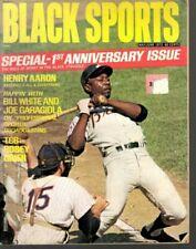 1972 (May/June) Black Sports Baseball magazine Hank Aaron, Atlanta Braves FAIR