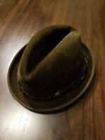 Vintage  Authentic John B. Stetson Fedora Hat 7-1/8 feather