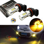 2PCS Yellow 3000K 21-SMD H16/H11 LED Replacement Bulbs For Fog Lights For Toyota