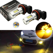 2PC Yellow 3000K 21-SMD H16/H11 LED Replacement Bulbs For Fog Lights Toyota, etc