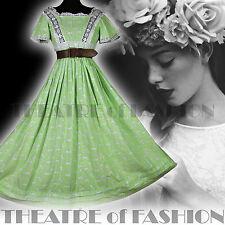 Laura Ashley Vintage Vestido 70s Gales Boho Victoriano 6 8 10 12 14 Boda Raro