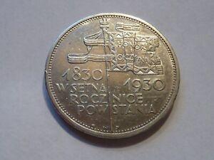 Pologne. Rare 5 zlotych 1930.