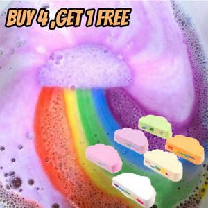Rainbow Cloud Bath Bomb Salt Exfoliating Moisturizing Bubble Bath Bomb Ball
