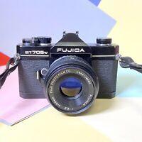 FUJI ST705w 35mm Film SLR Manual Camera with X-FUJINON 55mm F/2.2 Lens, VGC Lomo