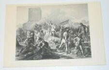 PARIS BESIEGED BY THE NORMANS Engraving Print Schnetz SHERRATT Guizot's History