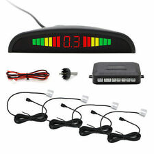 Car New Reverse Parking Sensor Rear 4 Sendors LCD Display Audio Alarm Kit-WH&C1