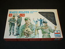 ESCI plastic figures of Nato pilots and ground crew. boxed.
