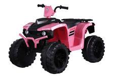 Twin Motor Quad Bike - Pink - 12V Kids' Electric Toy Ride On