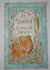 """New listing Fall/Thanksgiving Handcrafted Wall Hanging 17"""" x 26"""""""