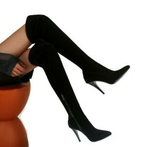 Women Sexy Stilettos Pointy Toe Thigh High Over Knee Boots Casaul Shoes 34/45 D